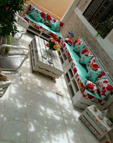 DIY جلسة خارجية (Pallets)