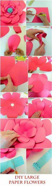 خلفية الأزهار الورقية DIY