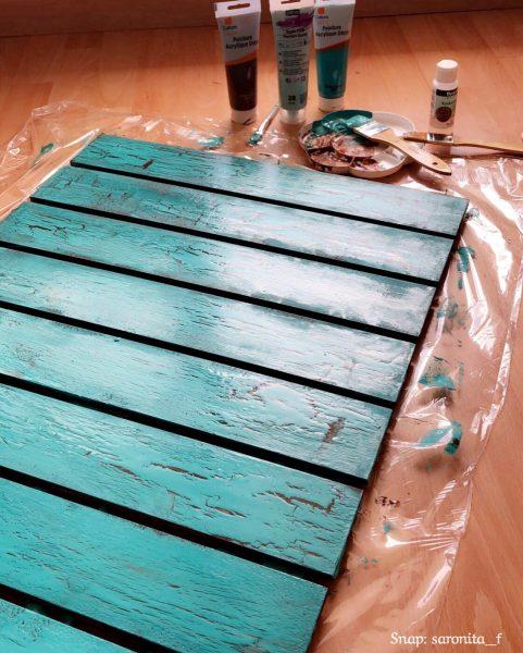 DIY خلفية Vintage للتصوير 📸 (cracked wooden board)